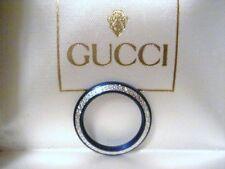 AUTHENTIC GUCCI BLUE DIAMOND CUT BEZEL FOR BANGLE WATCH MODEL 1100L 1200L 11/12
