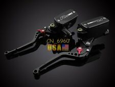 Black Clutch Brake Levers Master Cylinder Reservoir For Ducati 620 MONSTER 03-06
