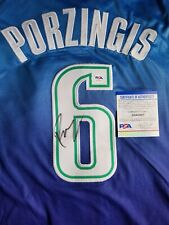 Kristaps Porzingis Signed Dallas Mavericks City Jersey w/ PSA COA NBA Autograph