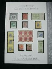 HR HARMER AUCTION CATALOGUE 2001 LATIN AMERICA & ASIA 'KEECH'