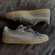 PUMA SILVER Knit Metallic Sneakers MEN'S Size 10 M RUBBER SOLE  BASKET NEW SHINE