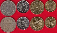 Guyana set of 4 coins: 1 - 25 cents 1967-1992