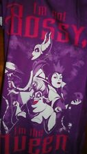 "Size 5/6 Villains Nightgown ""I'M Not Bossy I'M The Queen"" Disney Nightgown NWT"