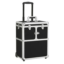 Makeup Travel Train Case Trolley Vanity Case Wheels Rolling Makeup Cosmetic Box