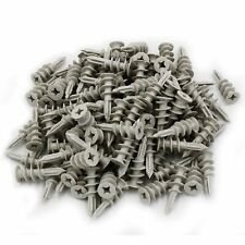 120x Self Drilling Wall 50 lbs Threaded Drywall Plastic Anchors for #8-10 Screws
