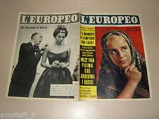 EUROPEO=1958/19=MARIA SCHELL COVER MAGAZINE=PIETRO FORDELLI=COCO CHANEL=