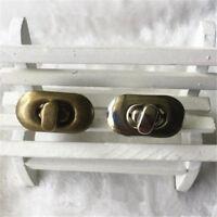 1/2pcs Metal Lock Twist Clasp Turn Lock for DIY Handbag Craft Bag Purse Hardware