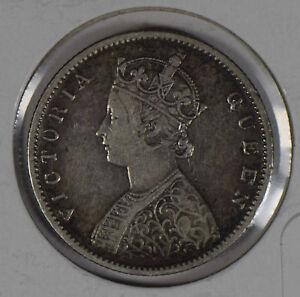 British India 1862 1/2 half Rupee silver  I0458 combine shipping