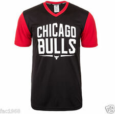 Adidas Performance Men's Chicago Bulls NBA Basketball V Neck Black T-Shirt Top L