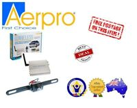 AERPRO ARV2REC UNIVERSAL WIRELESS REVERSE REAR CAMERA NUMBER PLATE MOUNT - NEW