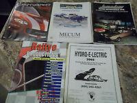 Lot of 5 Car Books - 2002 Chevy Camaro Brochure, Mecum Car Auction, Legendary ..