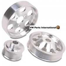VW Golf MK3 VR6 CNC Aluminum 3 Piece Pulley Set High Spec Performance Upgrade