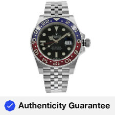 Rolex Gmt-master Ii Pepsi Cerámica Acero Automático para Hombre Negro Reloj 126710 blro