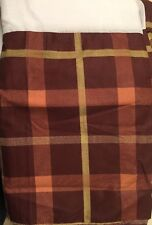BROWN PLAID Pleated King Size Dust Ruffle BED SKIRT P&A MARKETING
