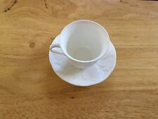 Wedgwood Strawberry And Vine Tea Cup & Saucer White Bone China Made in England