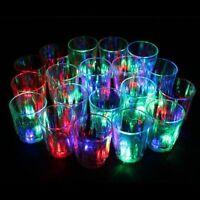 24 Flashing Light up Cups Flashing Shots Light 24 LED Bar Night Club Party Drink