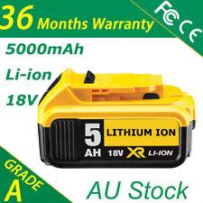 For Dewalt DCB184 DCB182 DCB181 DCB180 18Volt Li-ion XR 5Ah Slide XR Battery