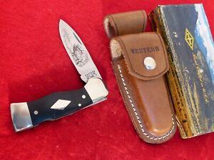 Western USA Made 1977 stainless mint S531 Elk etch mint/box lockback knife ld