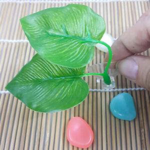 Artificial Plant Leaf Betta Hammock Fish  Spawning Rest Bed Ornament