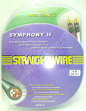 Straightwire Symphony II 6 Meter Single to Dual RCAs Subwoofer Audio Cable