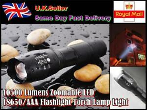 10500Lumens Zoomable LED 18650 Flashlight Torch Lamp Light Bicycle