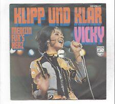 Vicky Leandros :  Klipp und klar  +  Medizin für´s Herz  - Vinyl Single 60er