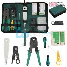Network Ethernet LAN Kit RJ45 RJ11 Cable Tester Crimper Crimping Tools Set