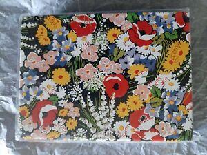 Vera Bradley 12 Note Cards & 12 Envelopes in Retired 'Poppy Fields' pattern NEW