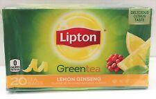 Lipton Green Tea Lemon Ginseng 20 Tea Bags 1.1 oz