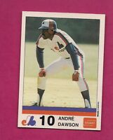 VERY RARE 1983 MONTREAL EXPOS ANDRE DAWSON  STUART NRMT-MT CARD (INV# A2910)