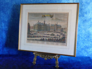 Antique Etching MICHIEL DE RUYTER Burial Procession Dam Square Print Stoopendaal