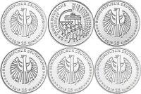 Deutschland 5 x 25 Euro 2015 Deutsche Einheit bfr Mzz A D F G J in Münzkapsel