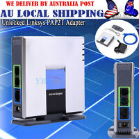 UNLOCKED CISCO LINKSYS PAP2T PAP2T-NA SIP VOIP Phone Adapter 2 Port Gateway