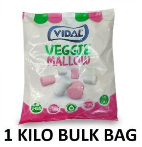 1kg Vidal Veggie Mallows Vegan Vegetarian BBQ Summer Party Kids Birthday Sweets