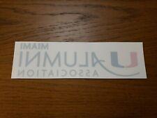 University Of Miami Umiami UM Alumni Association Car Decal Sticker Green