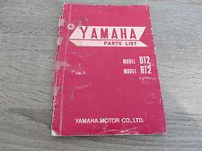 Yamaha parts list catalogue de pièces de rechange dt2 rt2 explosion dessin First Edition 71