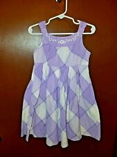Cute little purple & white Carter's Sun dress   size 4T