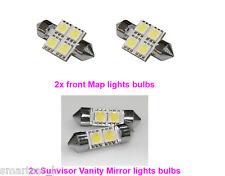 LED interior Map Sunvisor Vanity Mirror Light for 2014 2015 2016 2017 KIA Soul