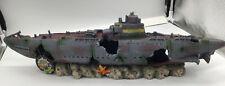 New listing Military Submarine Xl Aquarium Ornament 23 Inch Long for Larger Fish Tanks