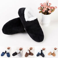 Mens Winter Slippers Fleece Shoes House Indoor Home Soft Warm Anti Slip On