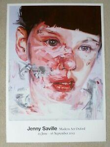 JENNY SAVILLE Modern Art Oxford  2012 ART EXHIBITION POSTER