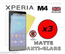 3x HQ MATTE ANTI GLARE SCREEN PROTECTOR COVER FILM GUARD FOR SONY XPERIA M4 AQUA