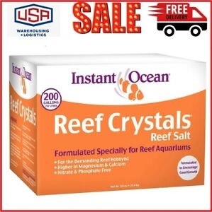 Instant Ocean Reef Crystals Reef Salt Formulated Specifically 25600 Fl Oz