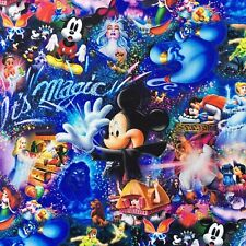 FQ DISNEY MAGIC MICKEY MOUSE CINDERELLA STITCH LION KING FABRIC CHARACTER