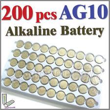 200 x AG10 LR54 SR54 SR1130W 189 L1130 Single Use Alkaline Battery Button