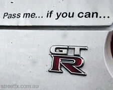 PASS ME IF YOU CAN Vinyl cut Bumper sticker decal for GTR R35 R34 R32 Turbo VR38