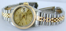 ROLEX - Ladies 18kt Gold & SS 26mm DateJust Champagne Index 69173 SANT BLANC