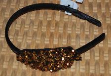 Headband Hair Accessory Style & Co. Copper Beads w/ Leaf Side Applique NWT$20