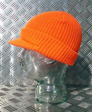Orange Beanie / Peak Hat / Jeep Cap - One size - NEW