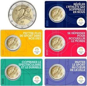 2   EURO  FRANCIA   2021   Olimpiadi 2024 di  Parigi    Coincard      PREVENDITA